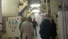 Technician John White at the Angus Tree Seed Facility in 2013, explaining the operation to AWARE Simcoe members