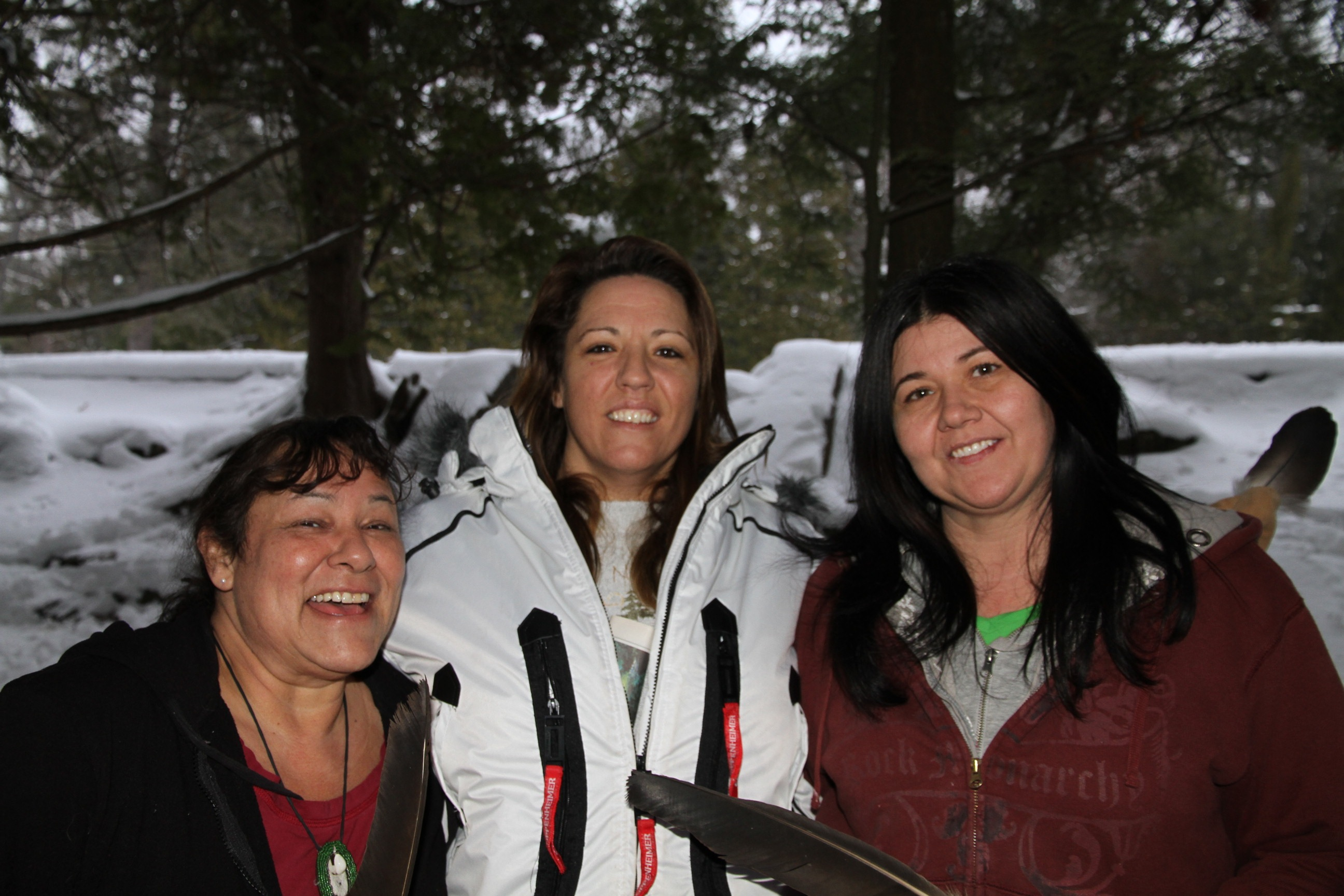 Beth Brass E;;son, Kimberly Rose Edwards and Sylvie Simard at Springwater Park in December - Anne Nahuis photo