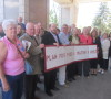 AWARE Simcoe members and supporters outside a 2013 OMB pre-hearing into Simcoe County's Official Plan - AWARE Simcoe photo
