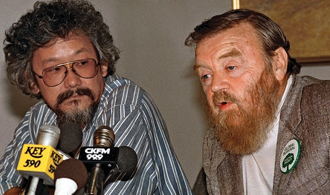 David Suzuki and Farley Mowat issue call to action at 1988 Rio climate change conference - CP photo