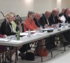 Candidates face a packed Elmvale Community Hall - Springwater News photo