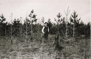 Drury on Angus Plains in 1906 -Photo by E.J. Zavitz