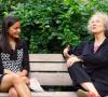 Maya Burhanpurkar with Margaret Atwood