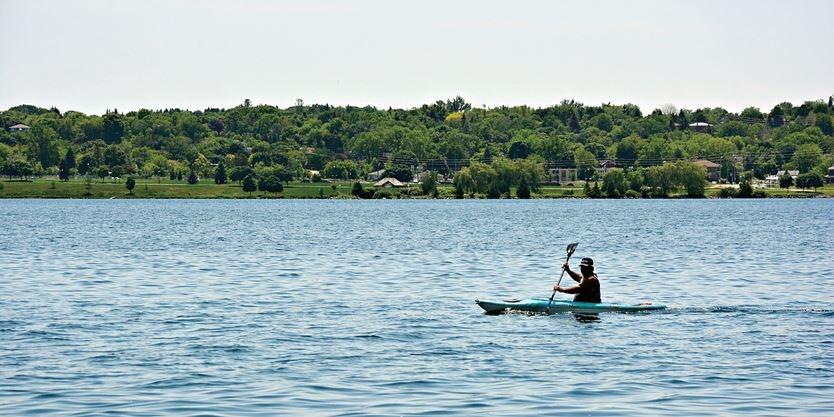 Kayaker on Kempenfelt Bay - Barrie Advance photo