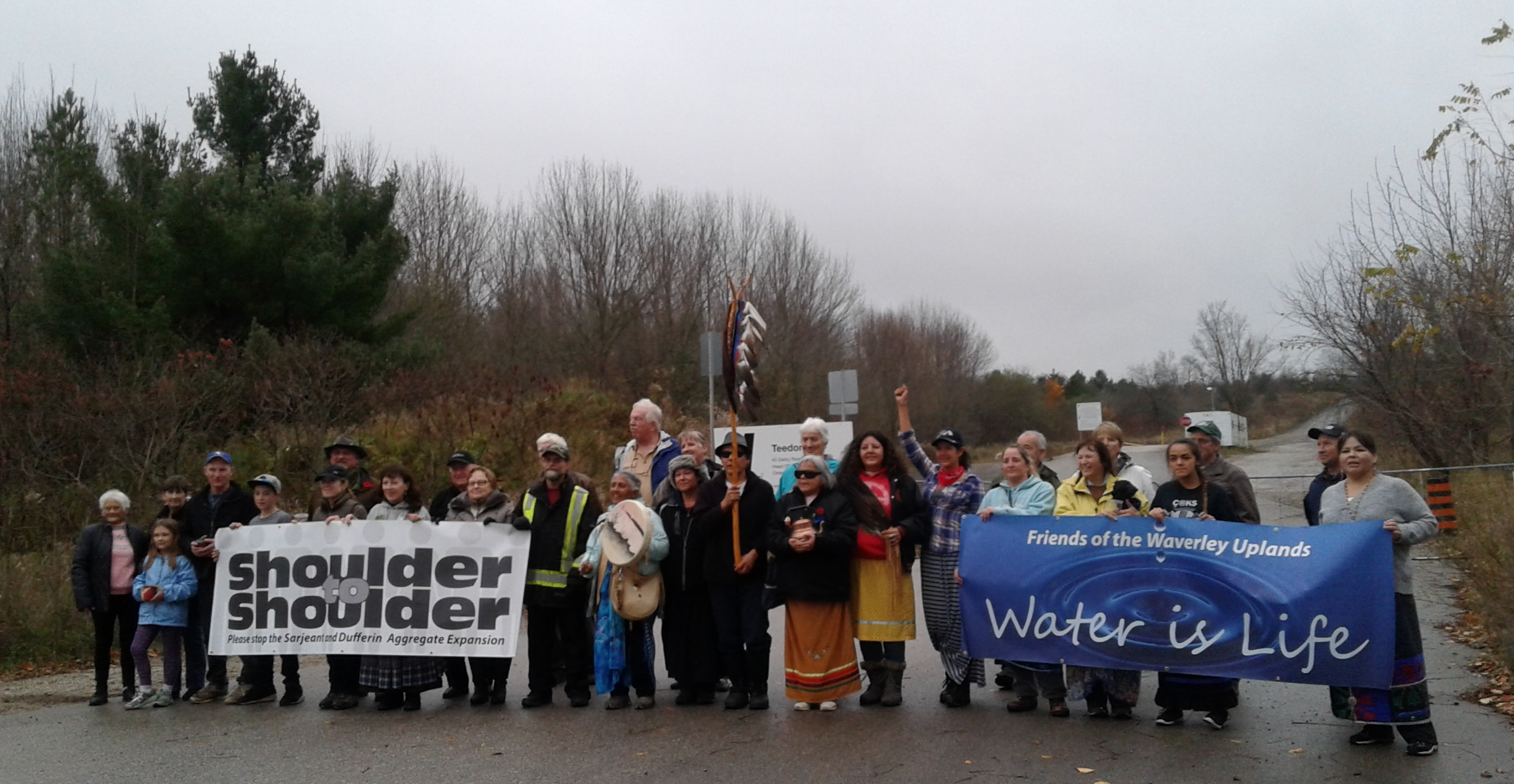 November 5 2017: water walk finishes at Teedon Pit entrance