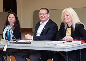 Claire Malcolmson (Campaign Fairness), Mike Schreiner (Green Party) and Janet Budgell (Concerned Citizens in Adjala-Tosorontio) -Lake Simcoe Living photo