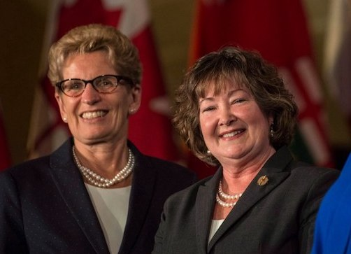 Premier Kathleen Wynne with MNRF Minister Kathryn McGarry
