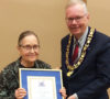 Julie Barker and Midland Mayor Gord Mackay