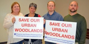 Residents fight to save woodland –Metroland photo