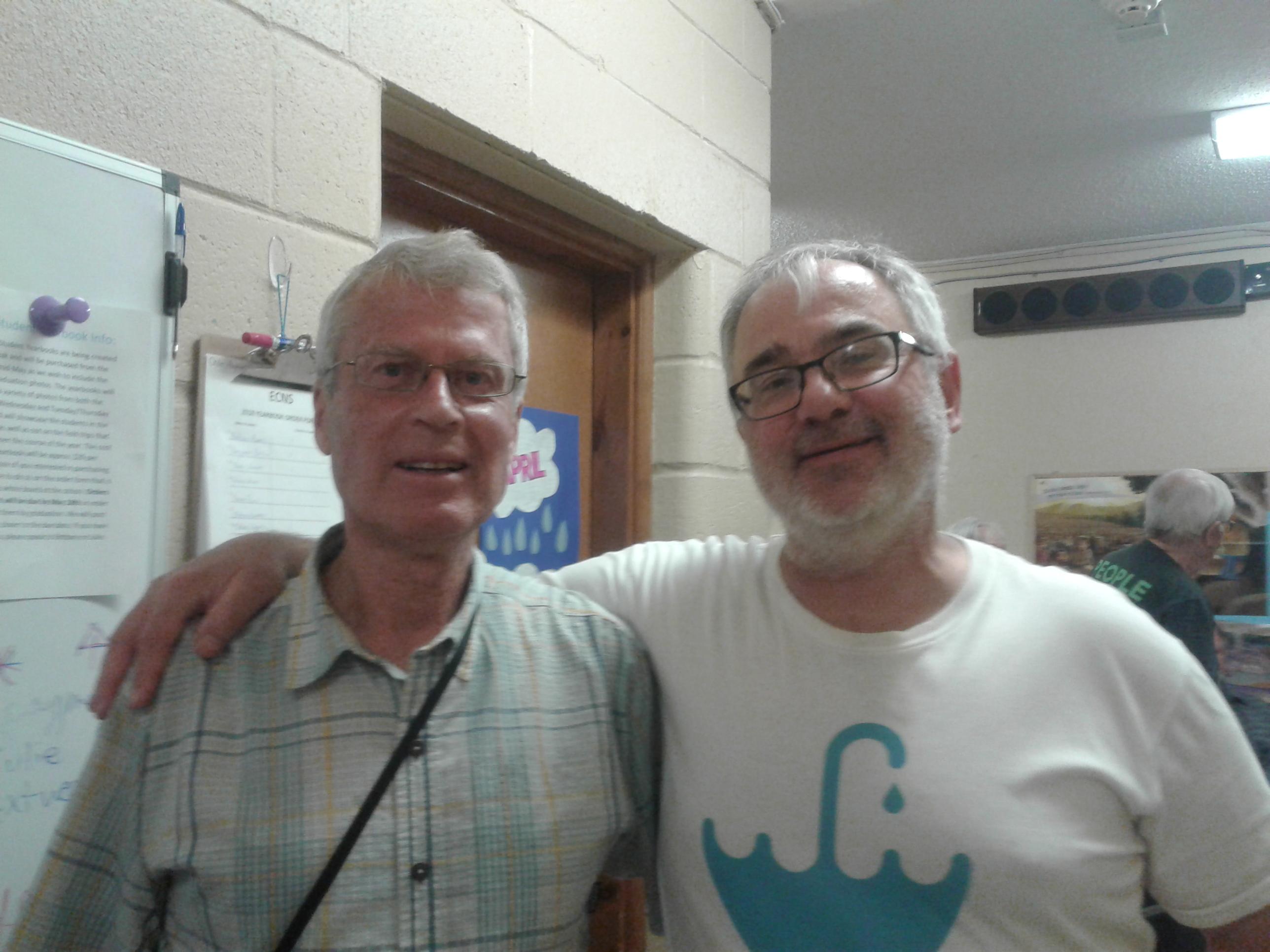 John Cherry and Bill Shotyk -Kate Harries photo