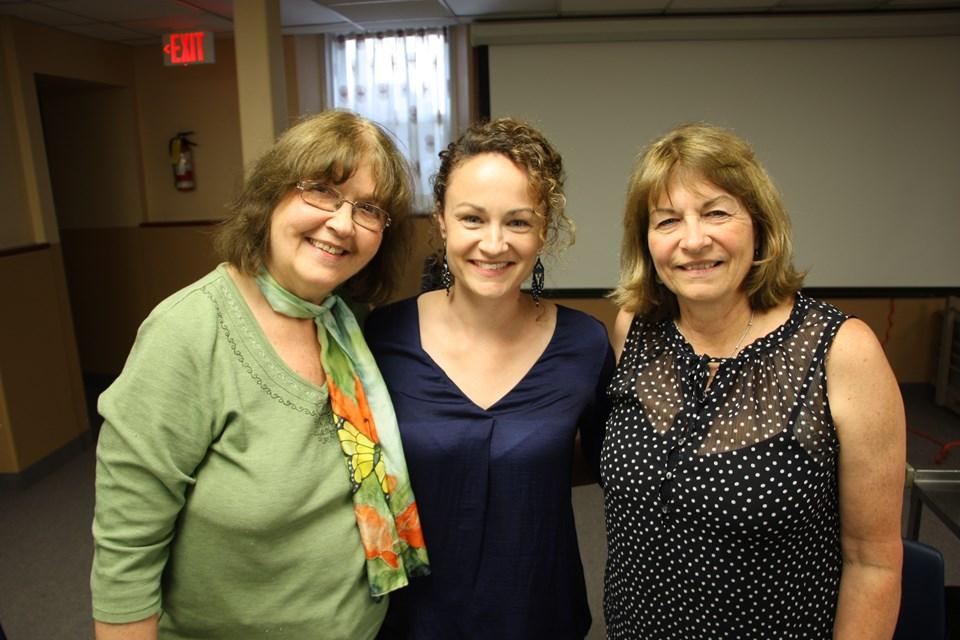 Reverend Meg Jordan, Karen Spring and Karen's mom Janet Spring