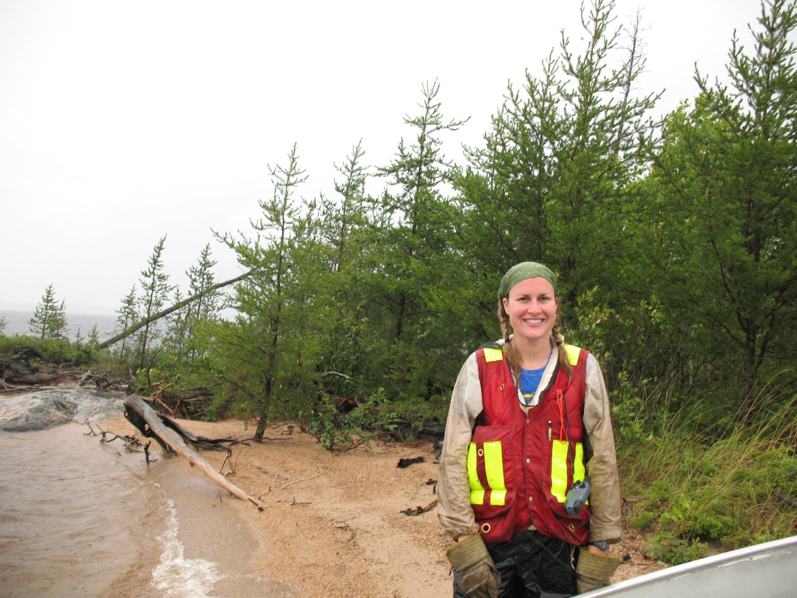 Julee Boan, who leads Ontario Nature's northern programming as its boreal program manager, conducts field research. File Photo by Ontario Nature
