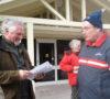 Councillor Richard Hinton, at right -AWARE Simcoe photo