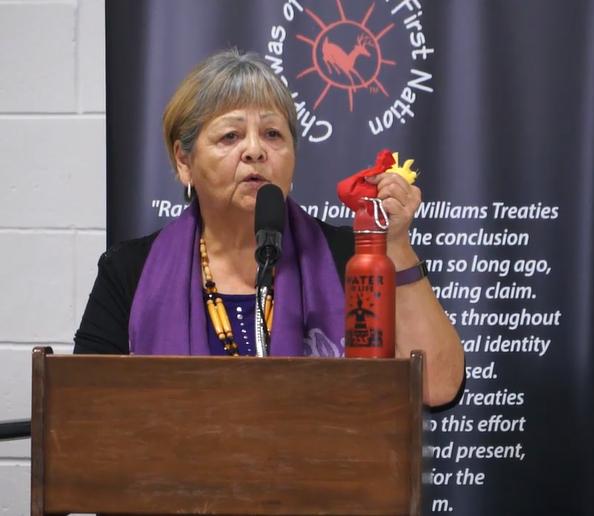 Rama First Nation elder Lorraine McRae -Orillia Matters photo