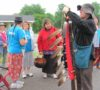 Grandmother Josephine begins a Water Walk around Lake Simcoe - June 24 2014