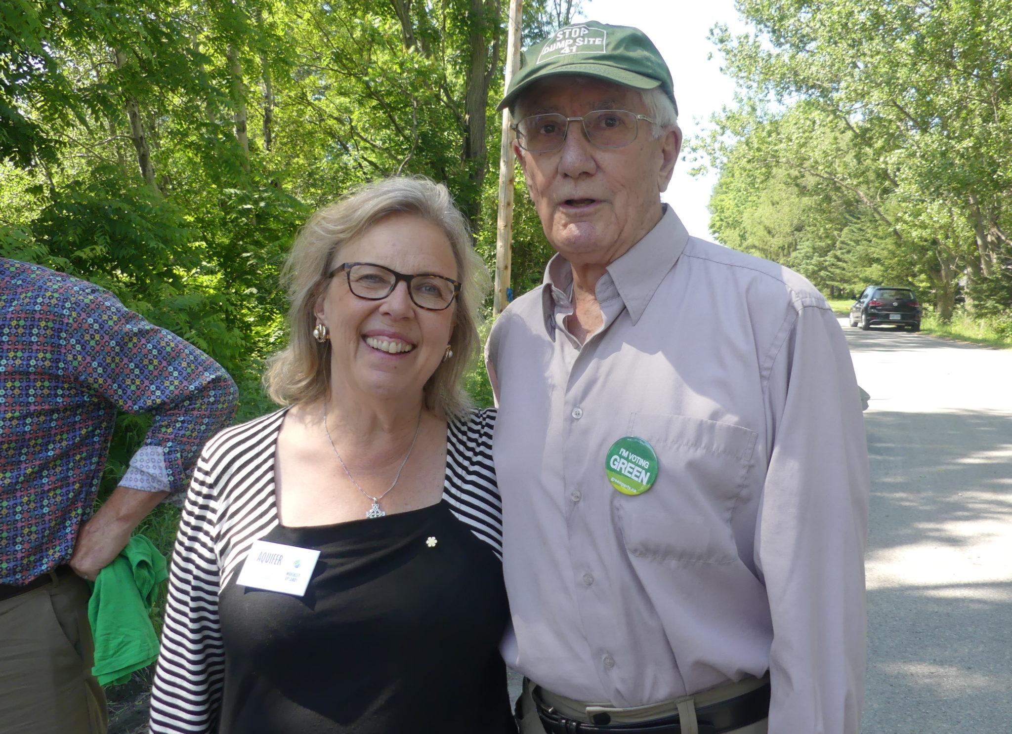Elizabeth May and Don Morgan