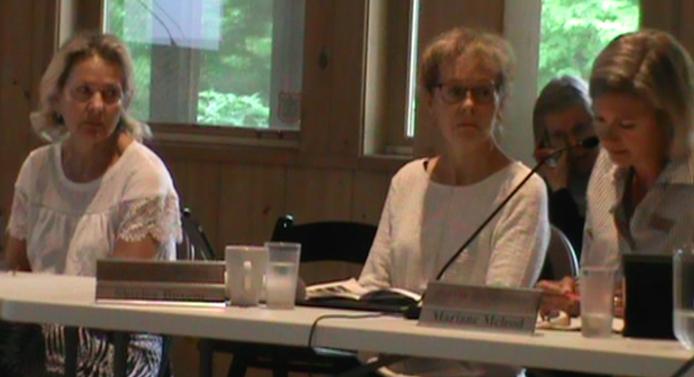 Amaranth Councillor Margaret Mercer, Melancthon Councillor Shirley Boxem and Collingwood Councillor Mariane McLeod. -AWARE Simcoe photo