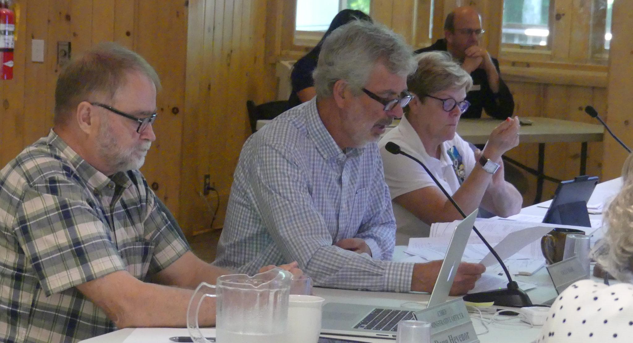 NVCA's Doug Hevenor, Keith White and Donna Jebb