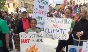 Climate protest in Barrie