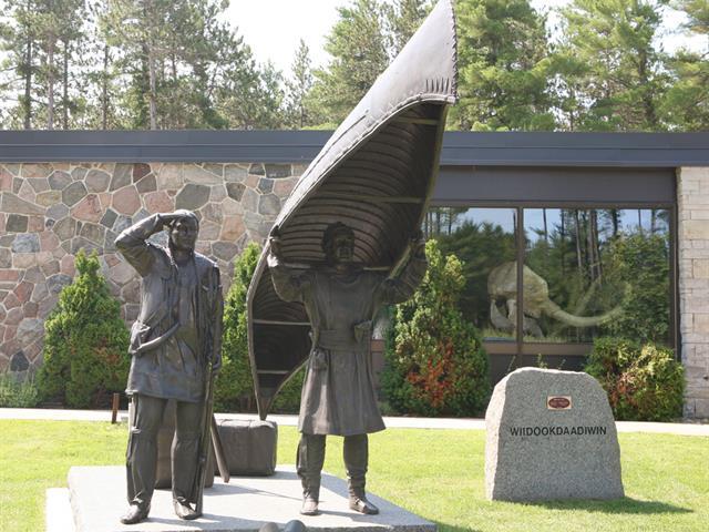Sculpture at museum