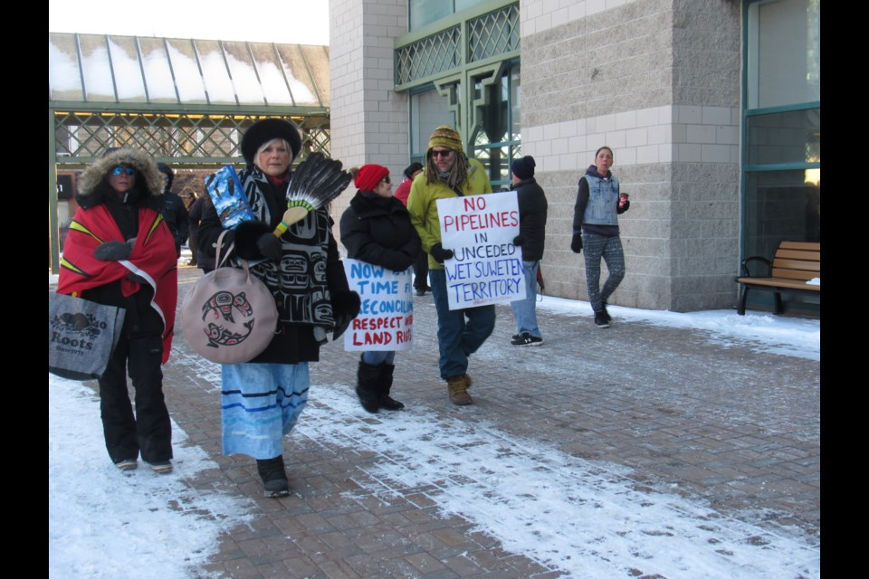 Supporter rally in Barrie February 8 2020 -Barrie Today photo
