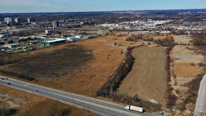 Pickering property picked for warehouse includes protected wetland -CBC photo